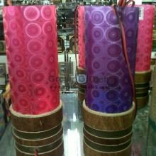 Lampu Rintik Bambu Unik Cantik Lucu dengan Berbagai Motif dan Warna
