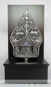 Frame  Backgroud Gunungan Penuh Story, Antik, Artistik, terbuat dari Besi Cor Tembaga dan Kuningan Cocok untuk Kado, Cindera Mata, Koleksi, Penghargaan, Dekorasi Rumah