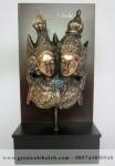 Frame  Backgroud Rama Shinta Penuh Story, Antik, Artistik, terbuat dari Besi Cor Tembaga dan Kuningan Cocok untuk Kado, Cindera Mata, Koleksi, Penghargaan, Dekorasi Rumah