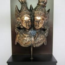 Frame  Backgroud Rama Shinta Full Story Antik Artistik terbuat dari Besi Cor Tembaga dan Kuningan