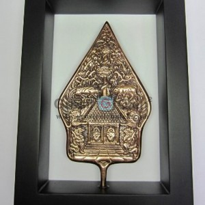 Frame  Gunungan Tradisional Jawa, Artistik, terbuat dari Besi Cor Tembaga dan Kuningan Cocok untuk Kado, Cindera Mata, Koleksi, Penghargaan, Dekorasi Rumah