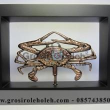 Frame Kepiting Unik, Antik, dan Klasik Bahan Besi Cor Tembaga, dan Kuningan