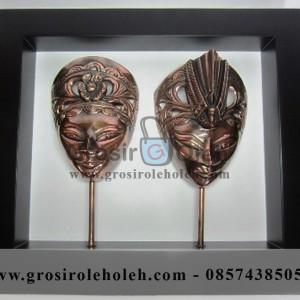 Frame Panji Jejer Artistik, Antik, terbuat dari Besi Cor Tembaga dan Kuningan Cocok untuk Kado, Cindera Mata, Koleksi, Penghargaan, Dekorasi Rumah