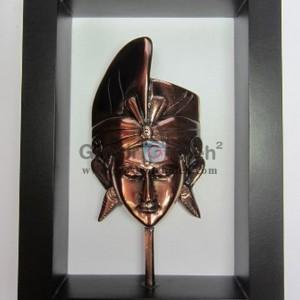 Frame Putra Antik, Unik, Mewah, Artistik, terbuat dari Besi Cor Tembaga dan Kuningan Cocok untuk Kado, Cindera Mata, Koleksi, Penghargaan, Dekorasi Rumah