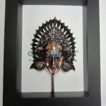 Frame Putri Antik, Unik, Mewah, Artistik, terbuat dari Besi Cor Tembaga dan Kuningan