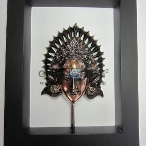 Frame Putri Antik, Unik, Mewah, Artistik, terbuat dari Besi Cor Tembaga dan Kuningan Cocok untuk Kado, Cindera Mata, Koleksi, Penghargaan, Dekorasi Rumah