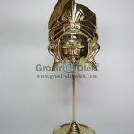 Stand Anak Putra Besar Gold Antik, Artistik, terbuat dari Besi Cor Tembaga dan Kuningan Cocok untuk Kado, Cindera Mata, Koleksi, Penghargaan, Dekorasi Rumah