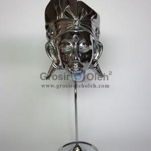 Stand Anak Putra  Besar Silver Antik, Artistik, terbuat dari Besi Cor Tembaga dan Kuningan Cocok untuk Kado, Cindera Mata, Koleksi, Penghargaan, Dekorasi Rumah
