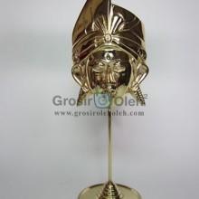 Stand Anak Putra Kecil Gold Antik, Artistik, terbuat dari Besi Cor Tembaga dan Kuningan