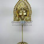 Stand Anak Putri Gold Antik, Artistik, terbuat dari Besi Cor Tembaga dan Kuningan Cocok untuk Kado, Cindera Mata, Koleksi, Penghargaan, Dekorasi Rumah