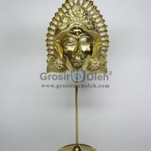 Stand Anak Putri Gold Antik, Artistik, terbuat dari Besi Cor Tembaga dan Kuningan