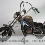 Miniatur Motor Harley Antik, Unik, Klasik, Artistik Berbahan dari Besi Cor Tembaga dan Kuningan