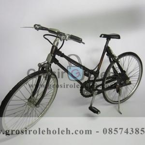 Sepeda MTB Cewek Antik, Unik, Klasik Berbahan dari Besi Cor Tembaga dan Kuningan
