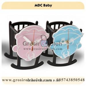 Jam Meja MDC Baby Pink Garansi Seiko 2 Tahun