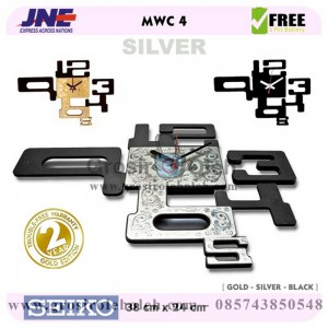 Jam dinding MWC 4 SILVER Garansi Seiko 2 Tahun
