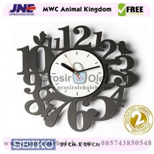 Jam dinding MWC Animal Kingdom Garansi Seiko 2 Tahun