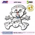 Jam dinding MWC Baby Garansi Seiko 2 Tahun