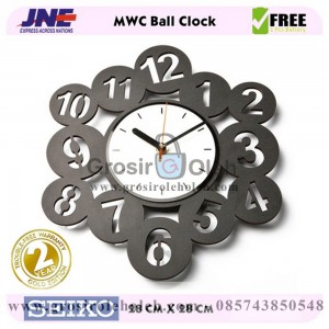 Jam dinding MWC Ball Clock Garansi Seiko 2 Tahun