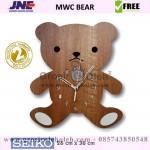 Jam dinding MWC Bear Garansi Seiko 2 Tahun