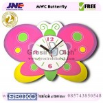 Jam dinding MWC Butterfly Garansi Seiko 2 Tahun