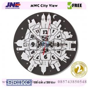 Jam dinding MWC City View Garansi Seiko 2 Tahun