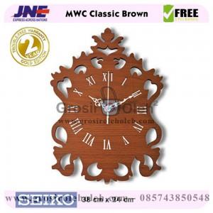 Jam dinding MWC Classic Brown Garansi Seiko 2 Tahun