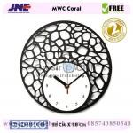 Jam dinding MWC Coral Garansi Seiko 2 Tahun