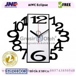 Jam dinding MWC Eclipse Garansi Seiko 2 Tahun