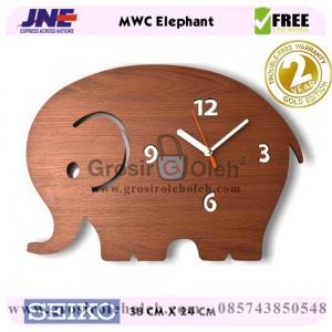 Jam dinding MWC Elephant Garansi Seiko 2 Tahun