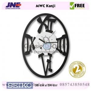 Jam dinding MWC Kanji Garansi Seiko 2 Tahun