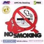 Jam dinding MWC No Smoking Garansi Seiko 2 Tahun