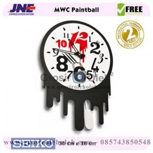 Jam dinding MWC Paint Ball Garansi Seiko 2 Tahun