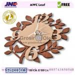 Jam dinding MWC Leaf Garansi Seiko 2 Tahun