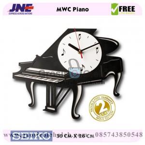 Jam dinding MWC Piano Garansi Seiko 2 Tahun
