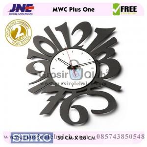 Jam dinding MWC Plus One Garansi Seiko 2 Tahun