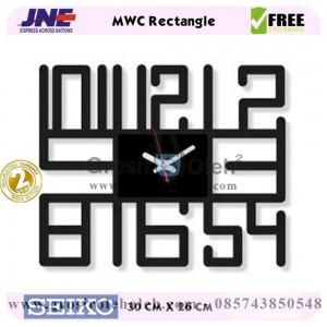 Jam dinding MWC Rectangle Garansi Seiko 2 Tahun