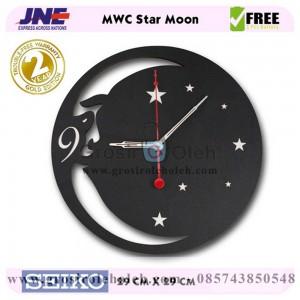 Jam dinding MWC Star Moon Garansi Seiko 2 Tahun