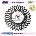 Jam dinding MWC Sun Flower Garansi Seiko 2 Tahun
