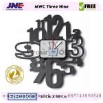 Jam dinding MWC Three Nine Garansi Seiko 2 Tahun