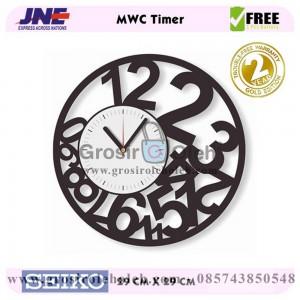 Jam dinding MWC Timer Garansi Seiko 2 Tahun