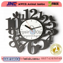 Jam dinding MWCG Animal Jumbo Garansi Seiko 2 Tahun