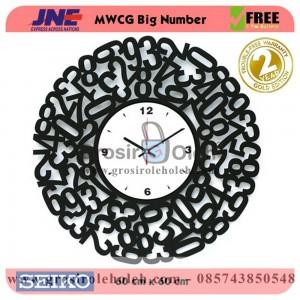 Jam dinding MWCG Big Number Garansi Seiko 2 Tahun