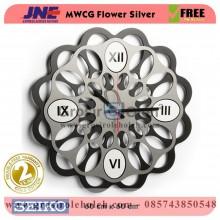 Jam dinding MWCG Flower Silver Garansi Seiko 2 Tahun