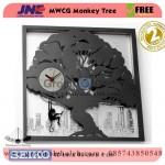 Jam dinding MWCG Monkey Tree Garansi Seiko 2 Tahun