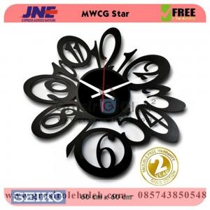 Jam dinding MWCG Star Garansi Seiko 2 Tahun