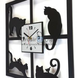 Jam dinding MWCS Cat Garansi Seiko 2 Tahun