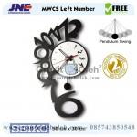 Jam dinding MWCS Left Number Garansi Seiko 2 Tahun