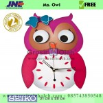 Jam dinding MWCS MS Owl Garansi Seiko 2 Tahun