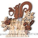 Jam dinding MWCS Squirrel Garansi Seiko 2 Tahun
