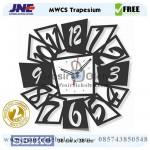 Jam dinding MWCS Trapesium Garansi Seiko 2 Tahun